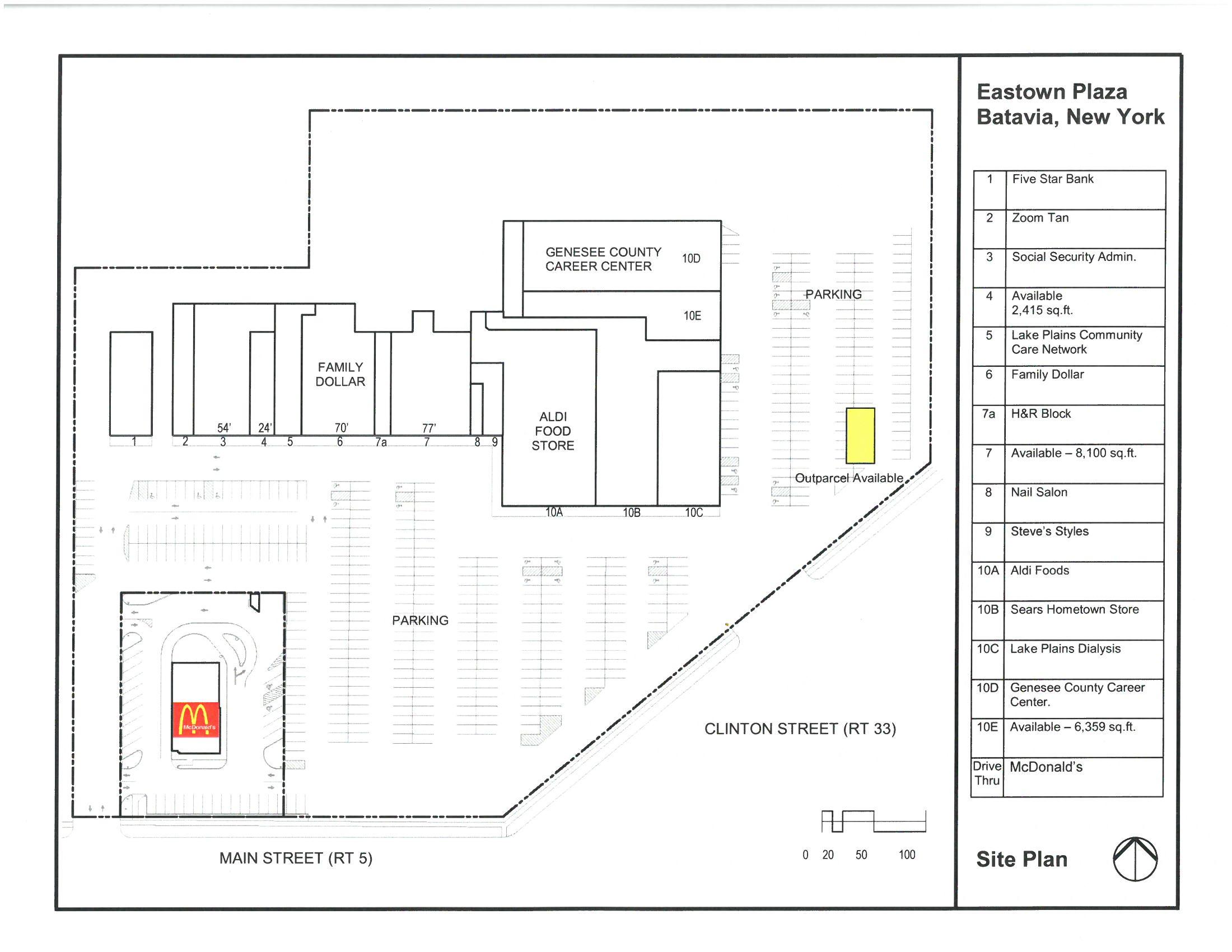 Eastown Plaza Leasing Plan